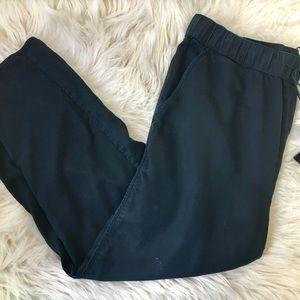Madewell Black Pull Up Pants Elastic Waist. M
